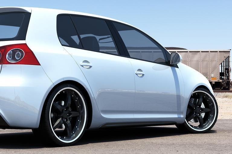 Dokładki Progów VW Golf 5 (6 GTI Look ABS) - GRUBYGARAGE - Sklep Tuningowy